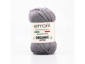 příze Organic Cotton EB041 ocelově šedá