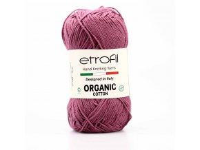 příze Organic Cotton EB053 tmavá starofialová