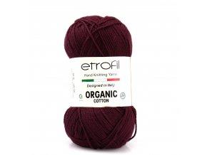 příze Organic Cotton EB040 burgundy