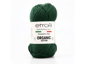 příze Organic Cotton EB044 lesní zelená