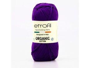 příze Organic Cotton EB043 fialová