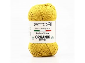 příze Organic Cotton EB042 hořčicová