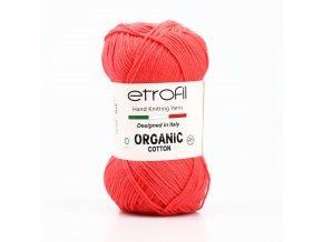 příze Organic Cotton EB048 neon oranžová