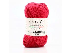 příze Organic Cotton EB050  malinová