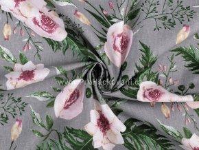 bavlnena latka ruze na sede