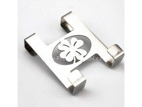 Kovový věšák na dveře - čtyřlístek pro štěstí