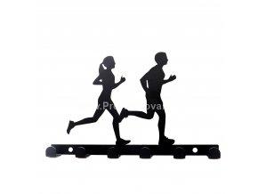 Kovový věšák černý - běžci