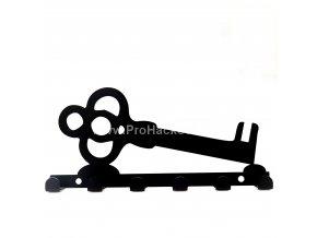 Kovový věšák černý - klíč velký