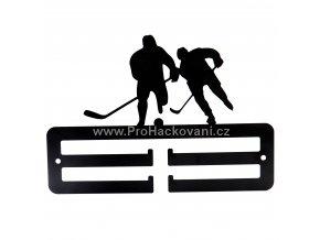 Kovový věšák na medaile - hokejisti