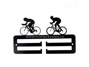 Kovový věšák na medaile - cyklisté