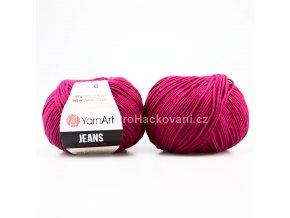příze YarnArt Jeans 91 fuchsiově fialová