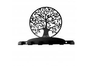 Kovový věšák černý - strom života