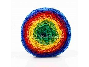 Chainy Cotton Cake ReTwisst 42 tyrkysová, zelená, žlutá, červená, modrá