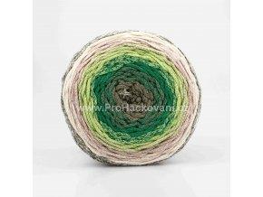 Chainy Cotton Cake ReTwisst 04 variace zelené, béžová, smetanová