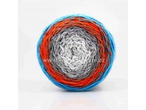 Chainy Cotton Cake ReTwisst 14 šedá, oranžová, modrá