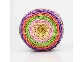 Chainy Cotton Cake ReTwisst 38 béžová, růžová, zelená, lososová, fialová