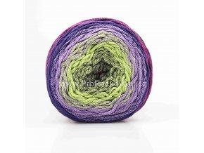 Chainy Cotton Cake ReTwisst 10 malinová, zelená, fialová