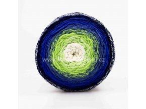 Chainy Cotton Cake ReTwisst 07 bílá, zelená, modrá