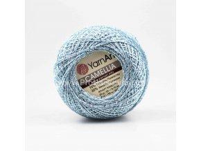 příze Camellia 417  světle modrá se stříbrnou nitkou