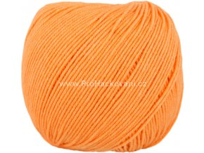 příze Jeans 8192 světlá pomerančová