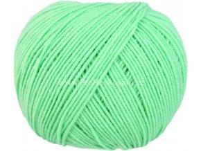 příze Jeans 8140 mentolově zelená
