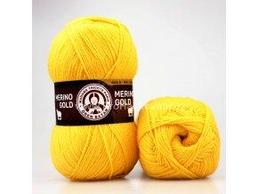 příze Merino Gold 029 žlutá