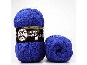 příze Merino Gold 016 safírově modrá