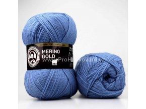příze Merino Gold 015 modrá
