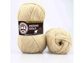 příze Merino Gold 114 písková