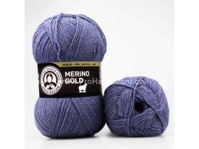 příze Merino Gold 138 jeans melange
