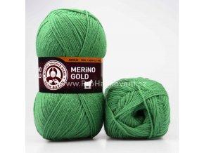 příze Merino Gold 132 mechově zelená