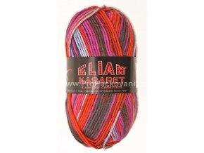 příze Elian Kabaret 81215 červená,cyklámen,fialová,šedá