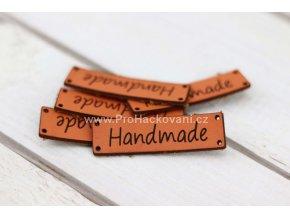 Hand Made koženková cedulka oranžová