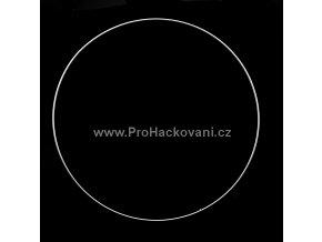 Kovový kruh bílý 35 cm