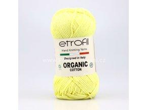 příze Organic Cotton EB058 světle žlutá