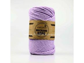 Macrame Rope 4 mm světlá fialová