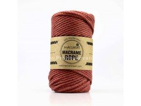 Macrame Rope 4 mm pálená cihla