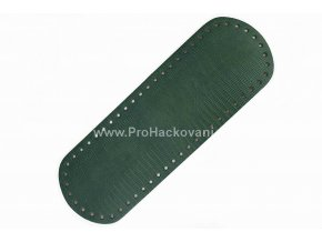 Koženkové dno na kabelku 10 x 30 cm zelené strukturované