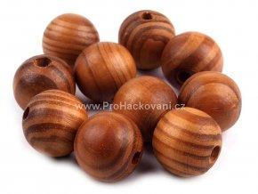 Dřevěný korálek Ø 20 mm, tmavá borovice
