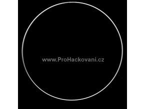 Kovový kruh bílý 40 cm