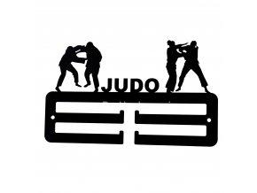 Kovový věšák na medaile - judo