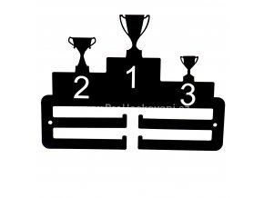 Kovový věšák na medaile - stupně vítězů