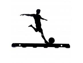 Kovový věšák černý - fotbalista
