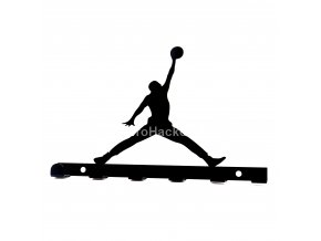 Kovový věšák černý - basketbalista