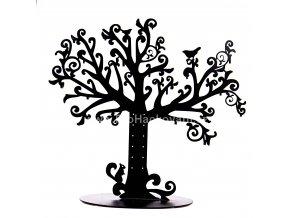 Kovový stojánek na šperky černý - strom života