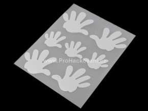 Nažehlovací reflexní folie motiv ruce