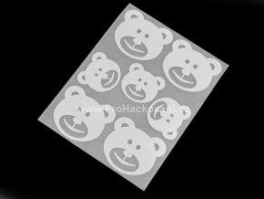 Nažehlovací reflexní folie motiv medvěd
