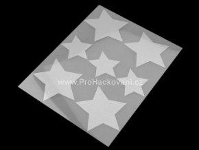 Nažehlovací reflexní folie motiv hvězda