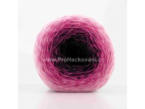 příze Acorus new 9715 černá, grafitová, odstíny růžové