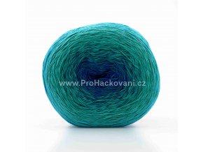 příze Acorus new 9718 fialová, zelená, modrá
